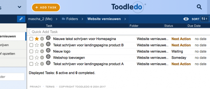Toodledo Project