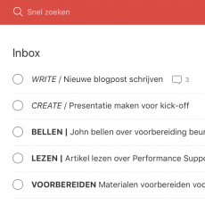 Opmaak, subkoppen en notities in Todoist
