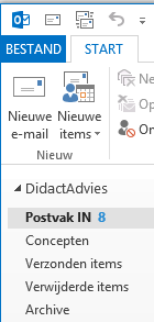 Inbox voor e-mails in Outlook