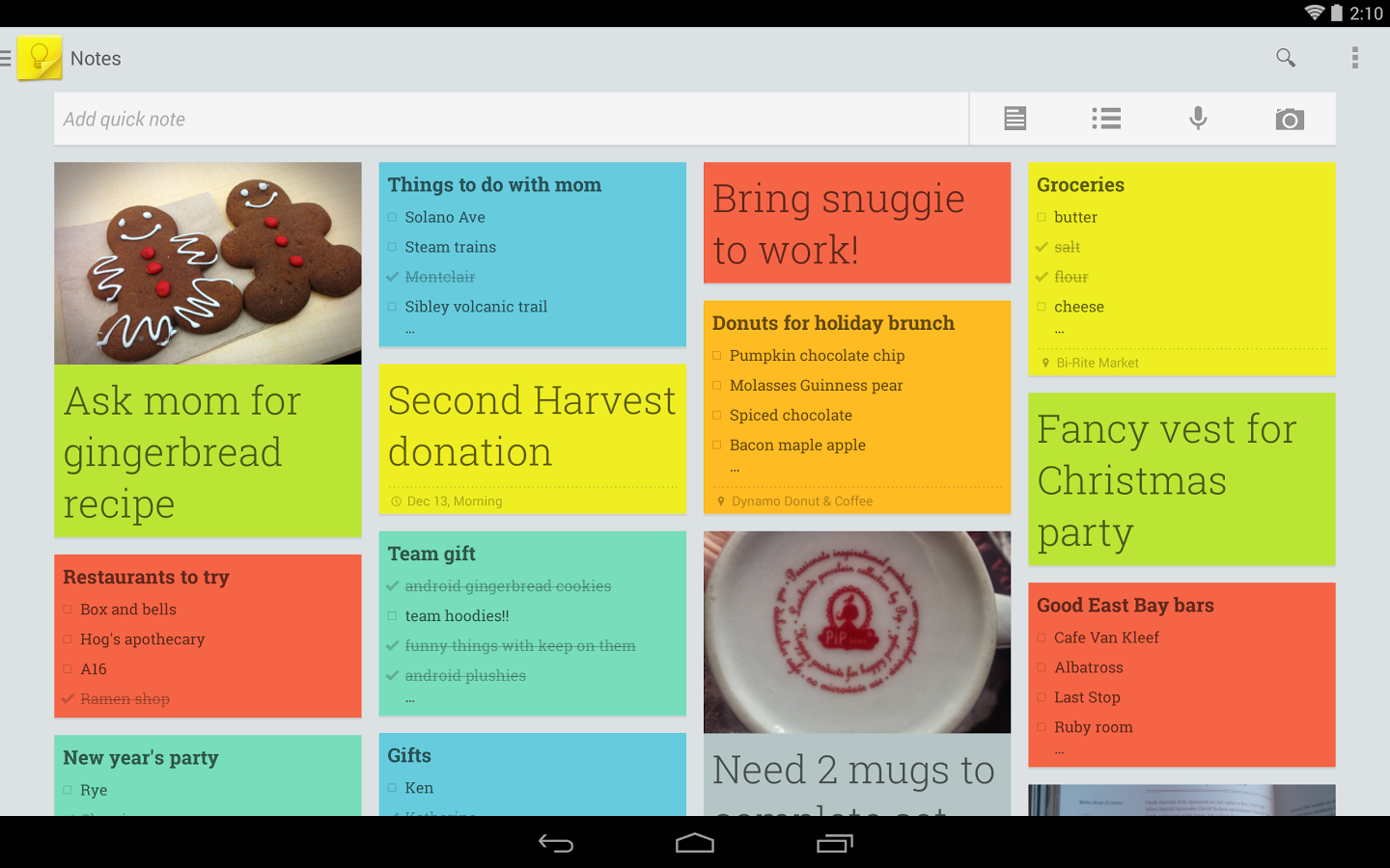 Notities in GoogleKeep