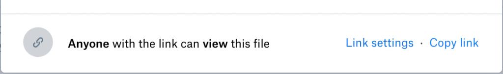 Onderste stuk van het deelvenster met daarin de functie 'Copy link'.