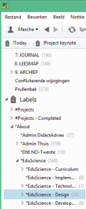 Labels in Evernote