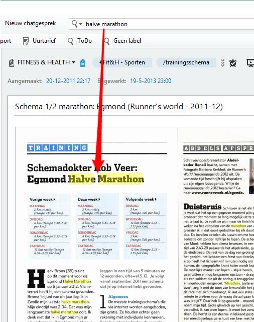 Zoeken in ingescande PDF-bestanden in Evernote