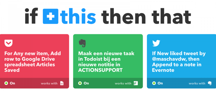 Drie voorbeelden IFTTT - If This Then Thatvan applets in IFTTT