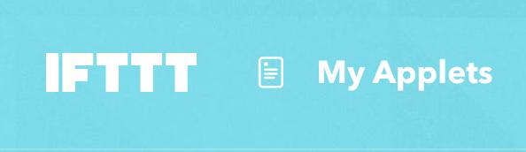 IFTTT-logo met rechts daarnaast My Applets