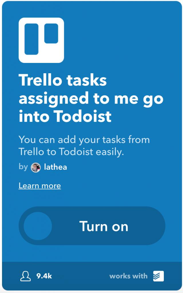 IFTTT-applet van een ander gebruiken