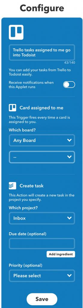 IFTTT-applet van een ander instellen om zelf te gebruiken