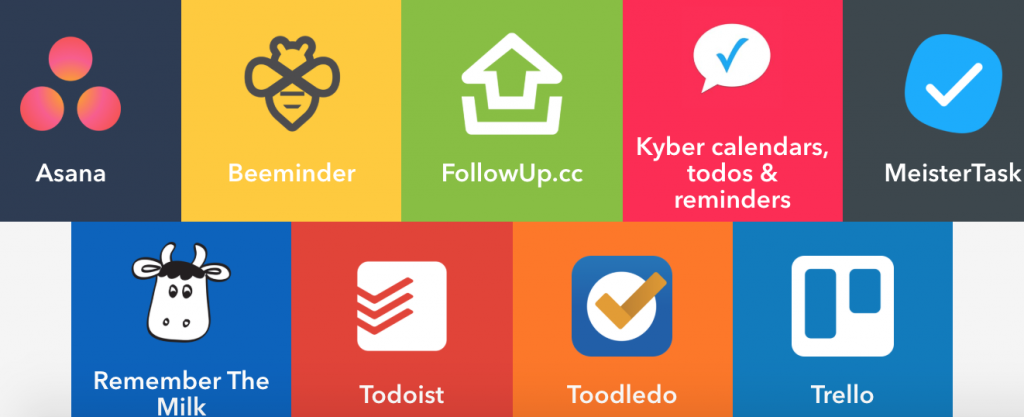 IFTTT-services voor taakapplicaties