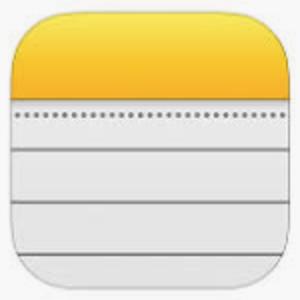 Logo Apple notes