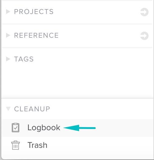 Link naar het logboek in het linker menu van Nirvana