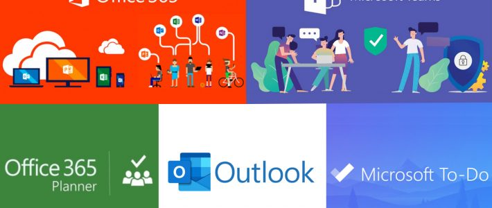 Logo's Office 365 - Teams - Planner - Outlook - To Do