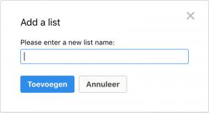 Remember the Milk - Nieuwe lijst toevoegen