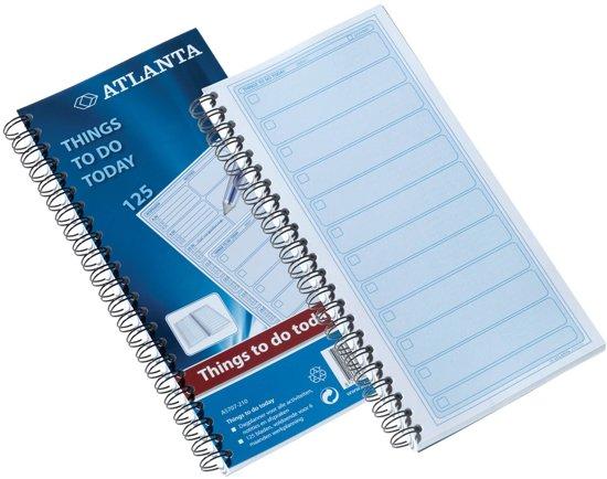 Papieren blok 'Things to do today' om taken op te noteren