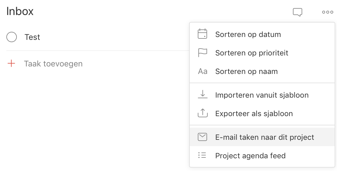 Todoist - Email tasks to Inbox