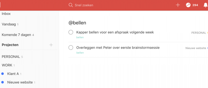 Todoist taken per label