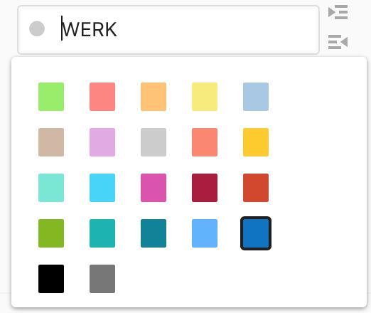 Kleur selecteren van een project in Todoist