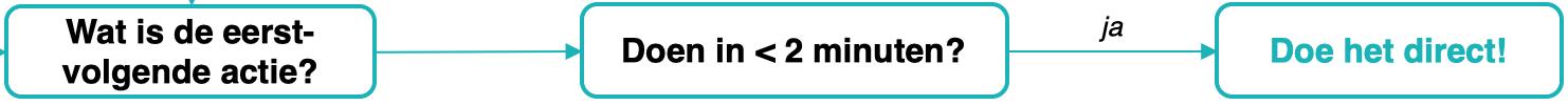 Workflow - Actie kan in minder dan 2 min