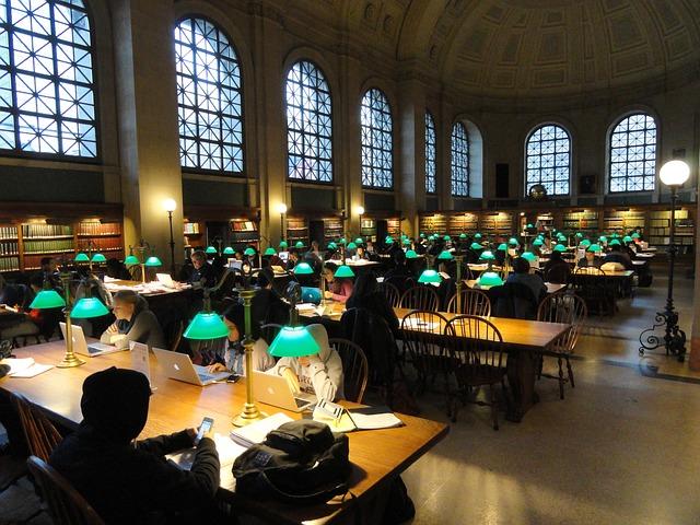 Studiezaal van een bibliotheek